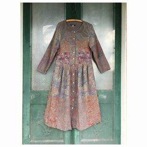 Citron Long-Sleeve Button-Front Dress